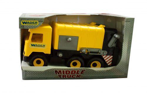 """Мусоровоз """"Middle truck"""" (желтый) 39492"""