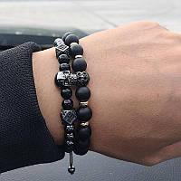 Мужской каменный браслет mod.Lost комплект браслетов