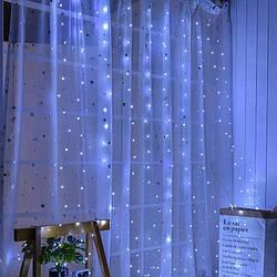 """Распродажа! Гирлянда Штора на проволоке """"Капля росы"""" 3х2м 320 LED, синий цвет"""
