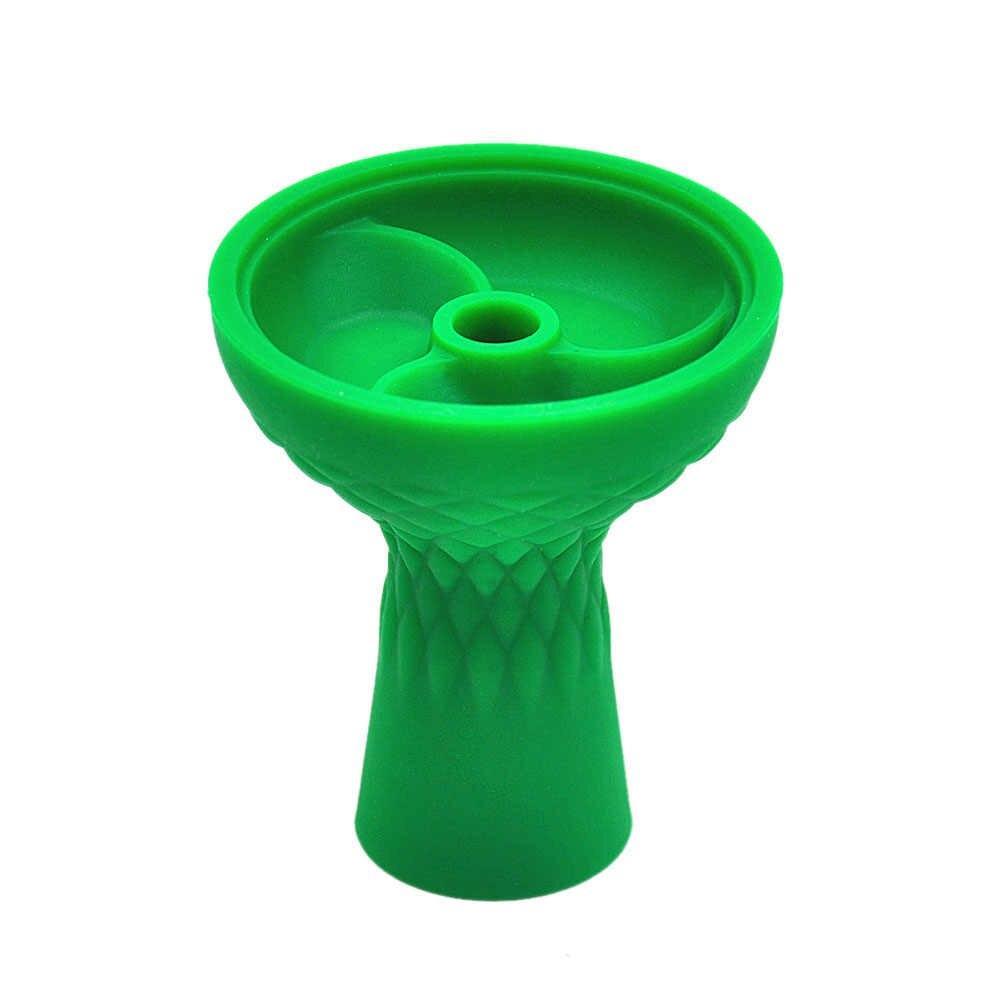 Чаша силіконова з трьома камерами зелена