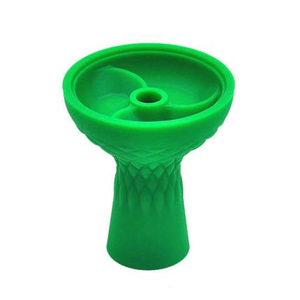 Чаша силіконова з трьома камерами зелена, фото 2
