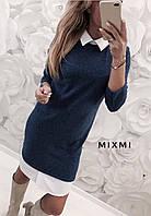 Платье женское пудра, красный, синий, серый 42-44, 44-46, фото 1