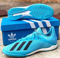 Футзалки Adidas X 19.3 Indoor blue, фото 1