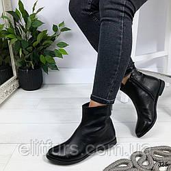 Ботинки зимние короткие, нат.кожа черный