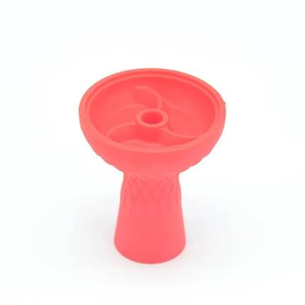 Чаша силиконовая с тремя камерами красная, фото 2