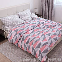 Двуспальный комплект постельного белья с геометричискими узорами Бязь Gold