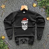 Кофта новогодняя Bad Santa boroda черная / свитшот на флисе | ЛЮКС, фото 1