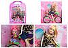 "Кукла типа ""Барби"" 2 вида, на велосипеде, с куколкой, в кор. 41*29.5*7,8см /48-2/"