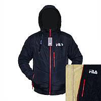 """Мужские зимние куртки """"FILA"""" на овчине фабричный пошив пр-во Украина  E841H"""