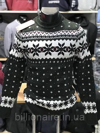 Стильний теплий новорічний чоловічий светр, фото 2