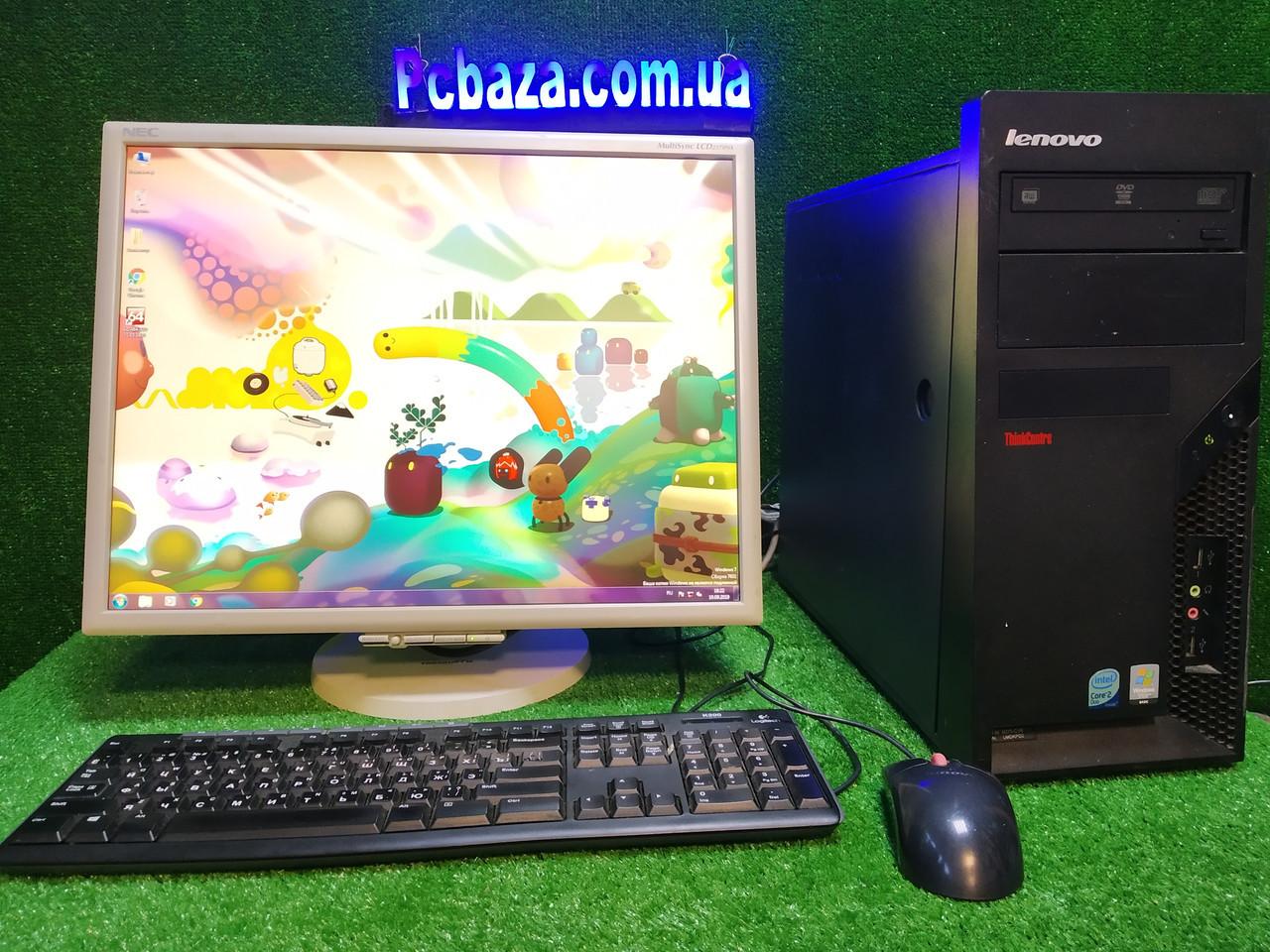 """Комплект настроенный Lenovo, 4 ядра, 4 ГБ, 320 Гб HDD + PVA  монитор 22"""" NEC ( комфортный для глаз)"""