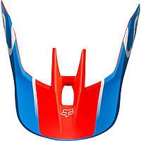 Козырек для мото шлема FOX MX19 V3 HELMET VISOR - KILA [BLU/RD]