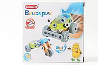 Развивающая игра для детей Meccano Construction Конструктор 2 в 1 Машинка-мотоцикл, 53 детали