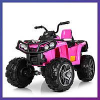 Детский квадроцикл на аккумуляторе EVA колеса Bambi M 3999 EBLR-8 розовый | Дитячий квадроцикл Бембі рожевий