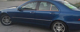 """Ветровики, дефлекторы окон Mercedes Benz C-klasse sedan (W203) 2000-2006 """"VL-Tuning"""""""