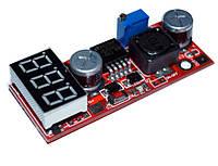 Преобразователь напряжения 4,5-28В в 1.3-25В 15Вт с вольтметром
