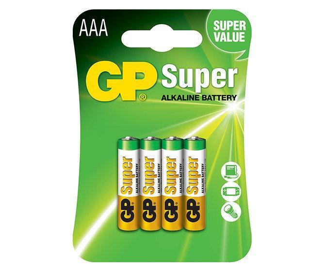 Батарейка GP 24A-S2 Super Alkaline AAA LR03 блистер 4 шт.