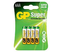 Батарейка GP 24A-S2 Super Alkaline LR03 AAA блістер 4 шт