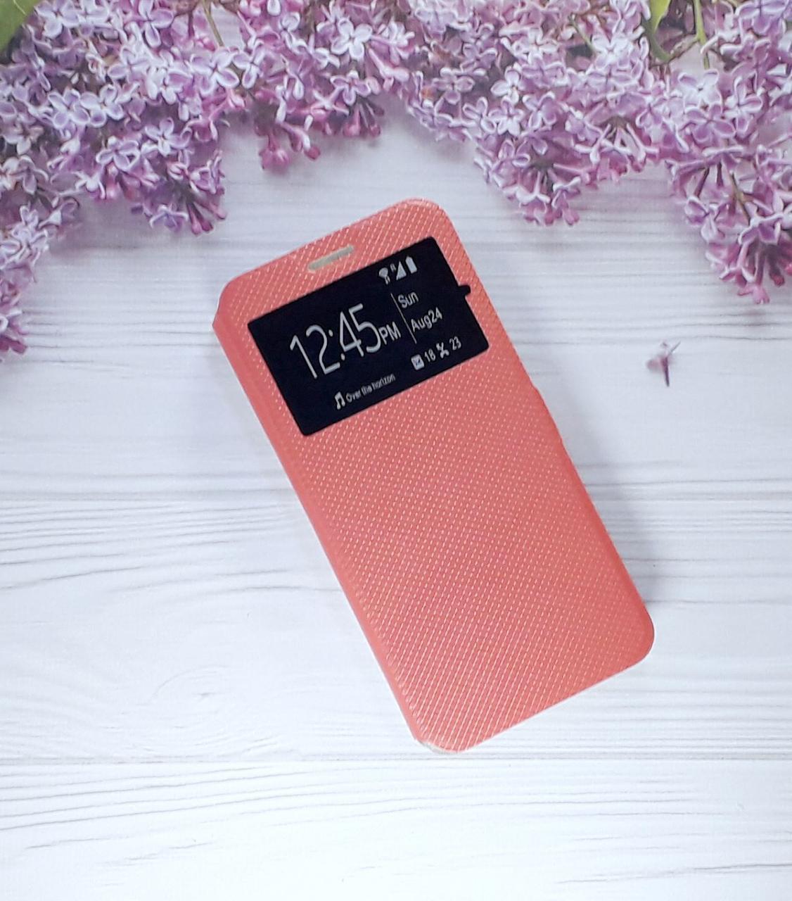 Чехол (книжка) с окошком для Xiaomi Note 6 Pro, Red