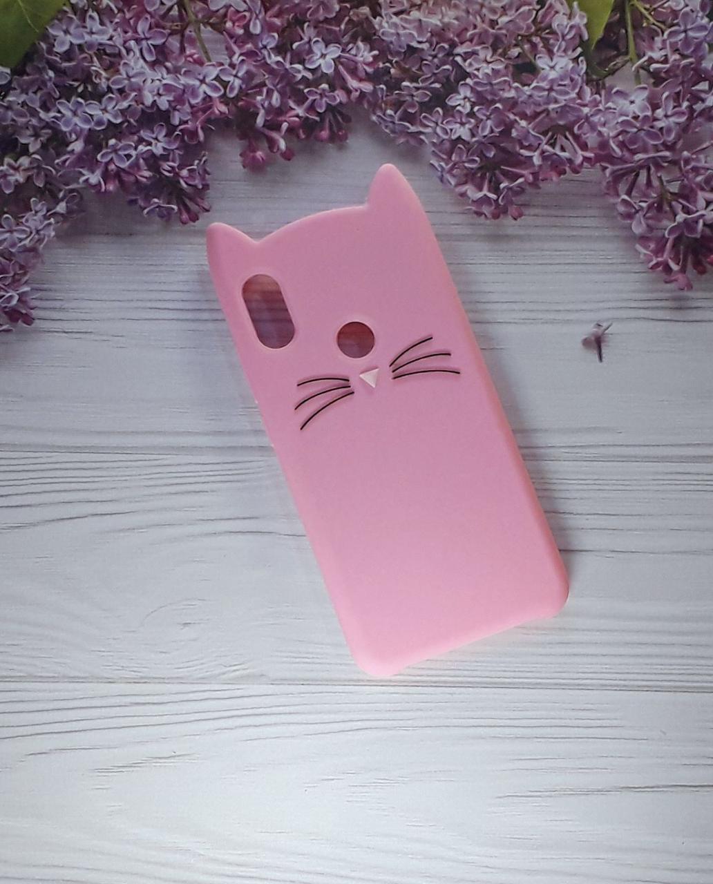 Чехол Cat для Xiaomi Note 6 Pro, Pink