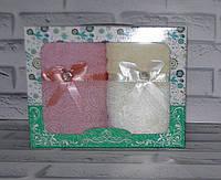 Набор полотенец кухонных для рук махра 75х35 раз 2 шт (N-375)