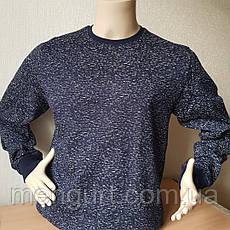 Фуфайка (футболка с длинным рукавом) мужская на байке ХЛОПОК  УЗБЕКИСТАН, фото 3