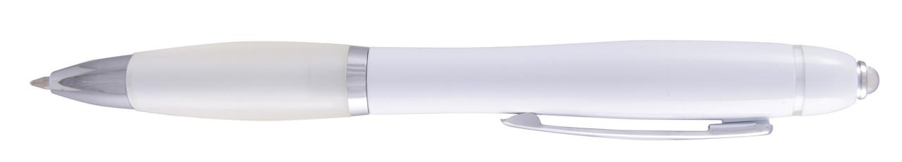 Ручка ber6078B пластиковая, белая, от 100 шт