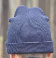 Темно-серая хип хоп зимняя шапка без надписей чистая