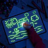 Набор для творчества Рисуй светом А3 (42х30 см) двухсторонний пластиковый ТМ Люмик, фото 7