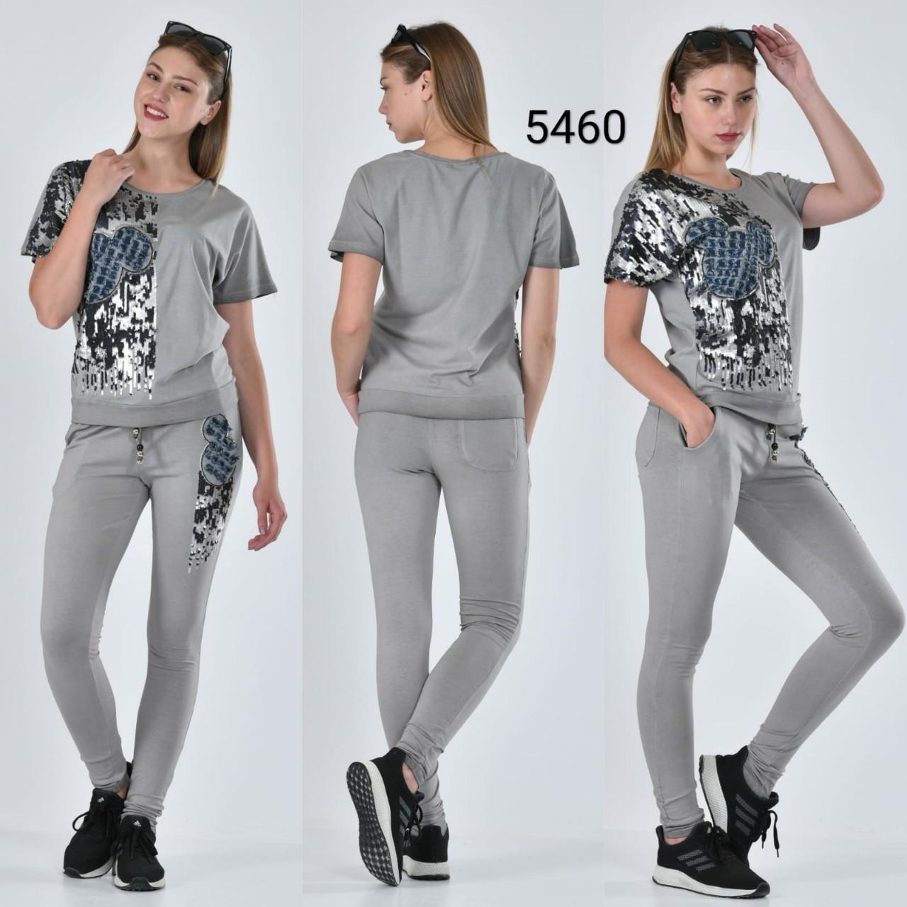 Спортивный костюм женский с пайетками 5460