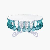 Подставка под торт с ГОЛУБЫМИ кристаллами - Ø30 см