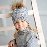 Зимняя шапка для девочки, David's Star.2068, от 7 до 13 лет, фото 2