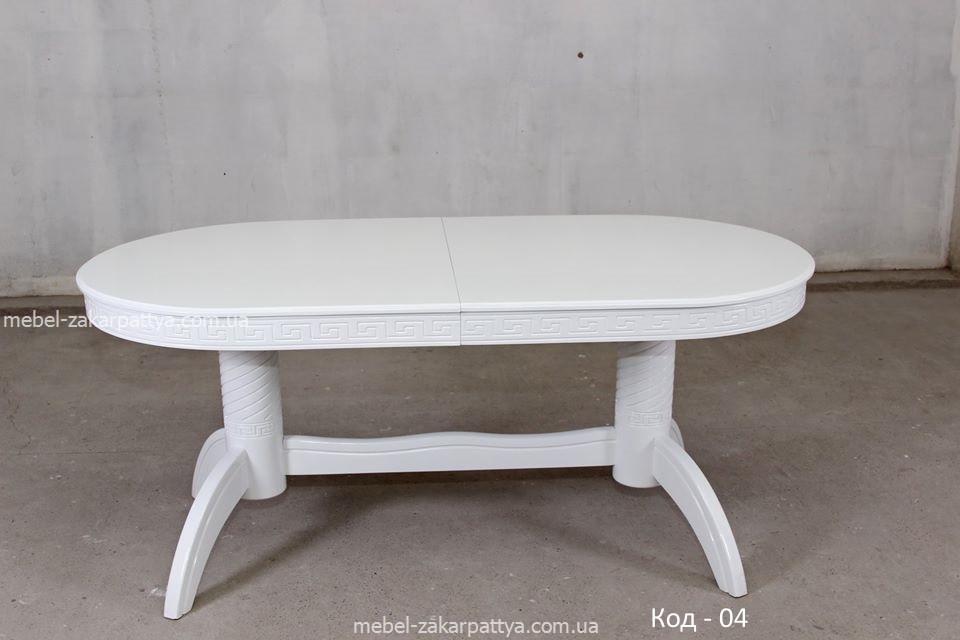 Стол круглый деревянный раскладной Код - 04
