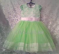 Детское платье бальное Марго 3-4 года Салатовое Опт и Розница, фото 1