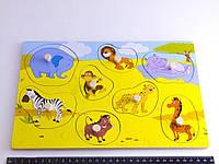 Деревянная игрушка Досточка вкладки с животными Саванна