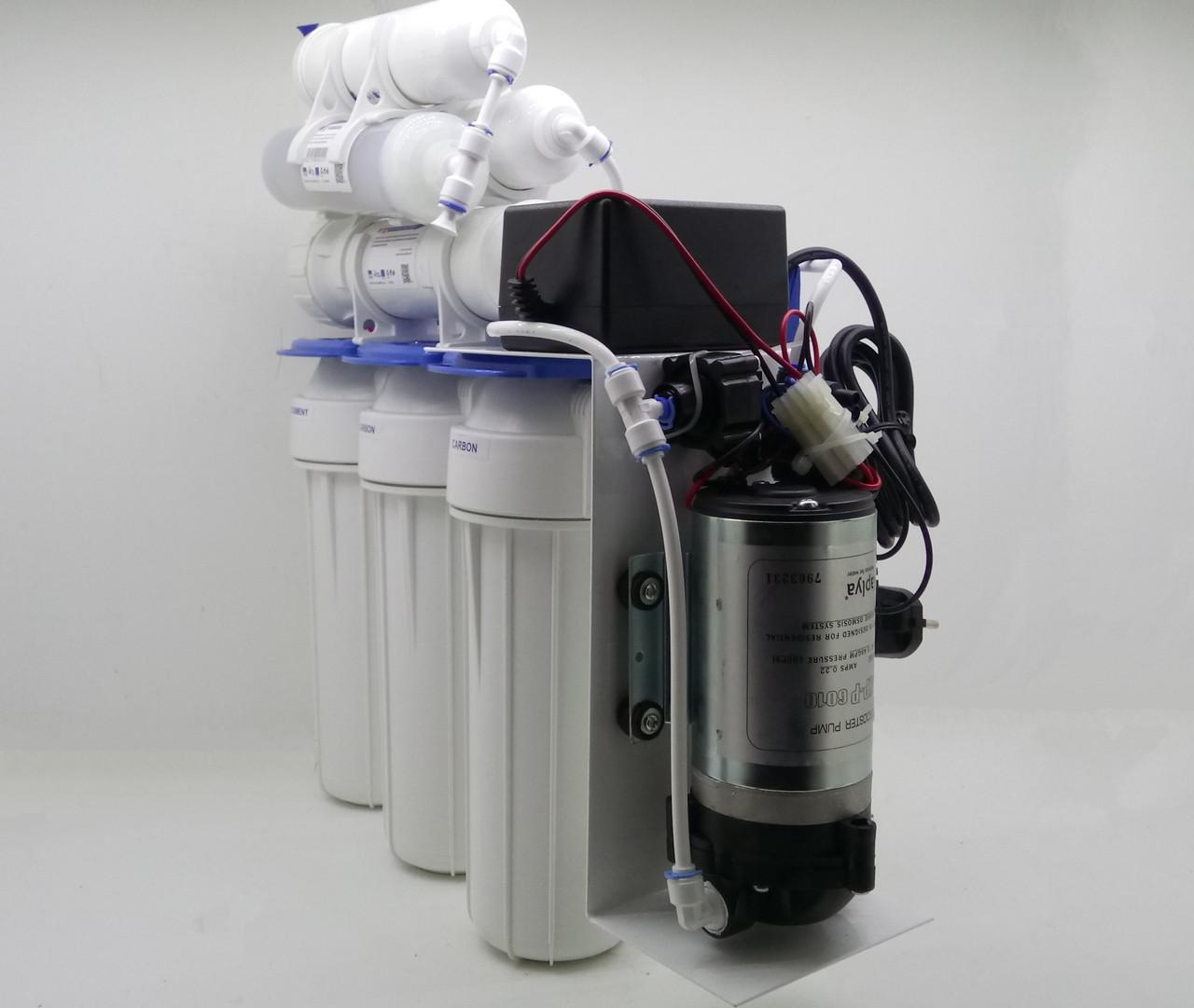 Фильтр с обратного осмоса Aquafilter RX-RO7-125 с помпой