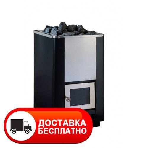 """Каменка в сауну """"Костер РК-16 S"""" без выноса дверка со стеклом"""