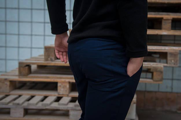 Штаны карго синие от Intruder, фото 2