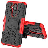 Чехол Armor Case для Nokia 7.1 Plus / Nokia 8.1 (X7) Красный