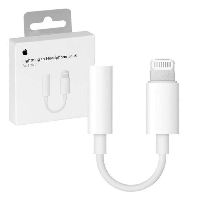 Адаптер переходник Apple Lightning to 3.5 mm Headphone Jack (MMX62FE/A)