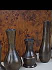 Набір металевих ваз для квітів декоративна маленький, фото 3