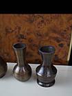 Набір металевих ваз для квітів декоративна маленький, фото 4