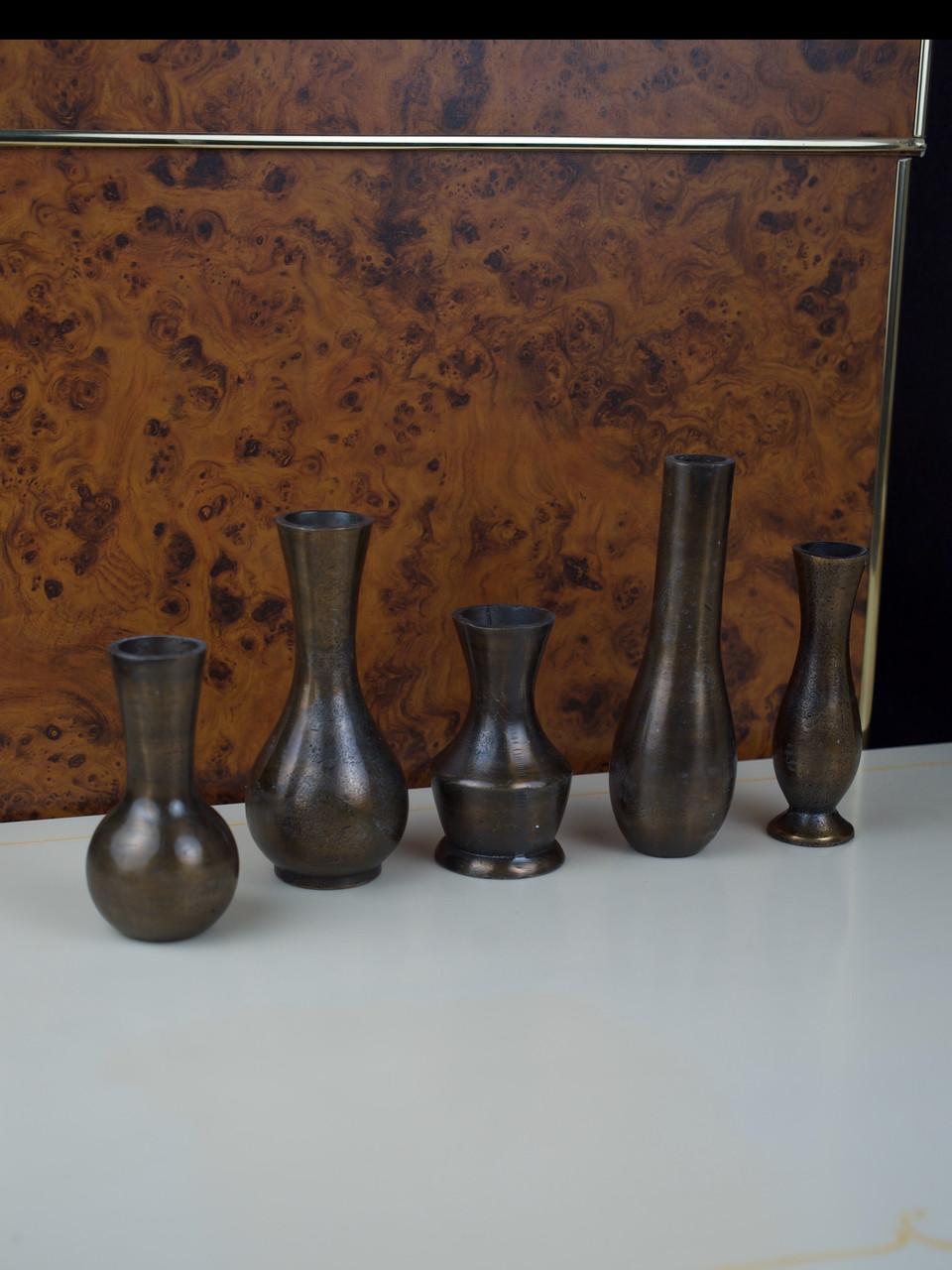Набор металических ваз для цветов декоративный маленький