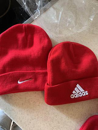 Зимняя красная шапка Nike распродажа, фото 2
