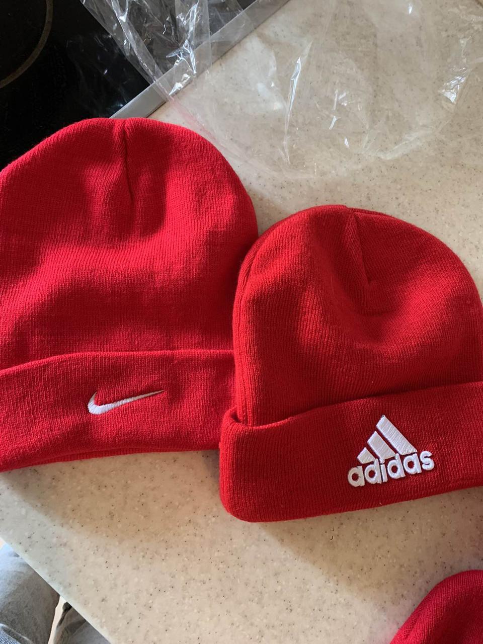 Зимняя красная шапка Nike распродажа