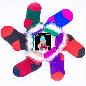 Детские шерстяные носочки с начесом для девочки Ира 2582. В упаковке 12 пар. Размер 6-9.
