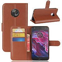 Чехол-книжка Litchie Wallet для Motorola Moto X4 XT1900 Коричневый