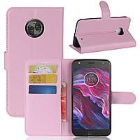 Чехол-книжка Litchie Wallet для Motorola Moto X4 XT1900 Светло-розовый