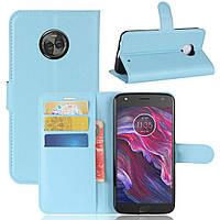 Чехол-книжка Litchie Wallet для Motorola Moto X4 XT1900 Голубой