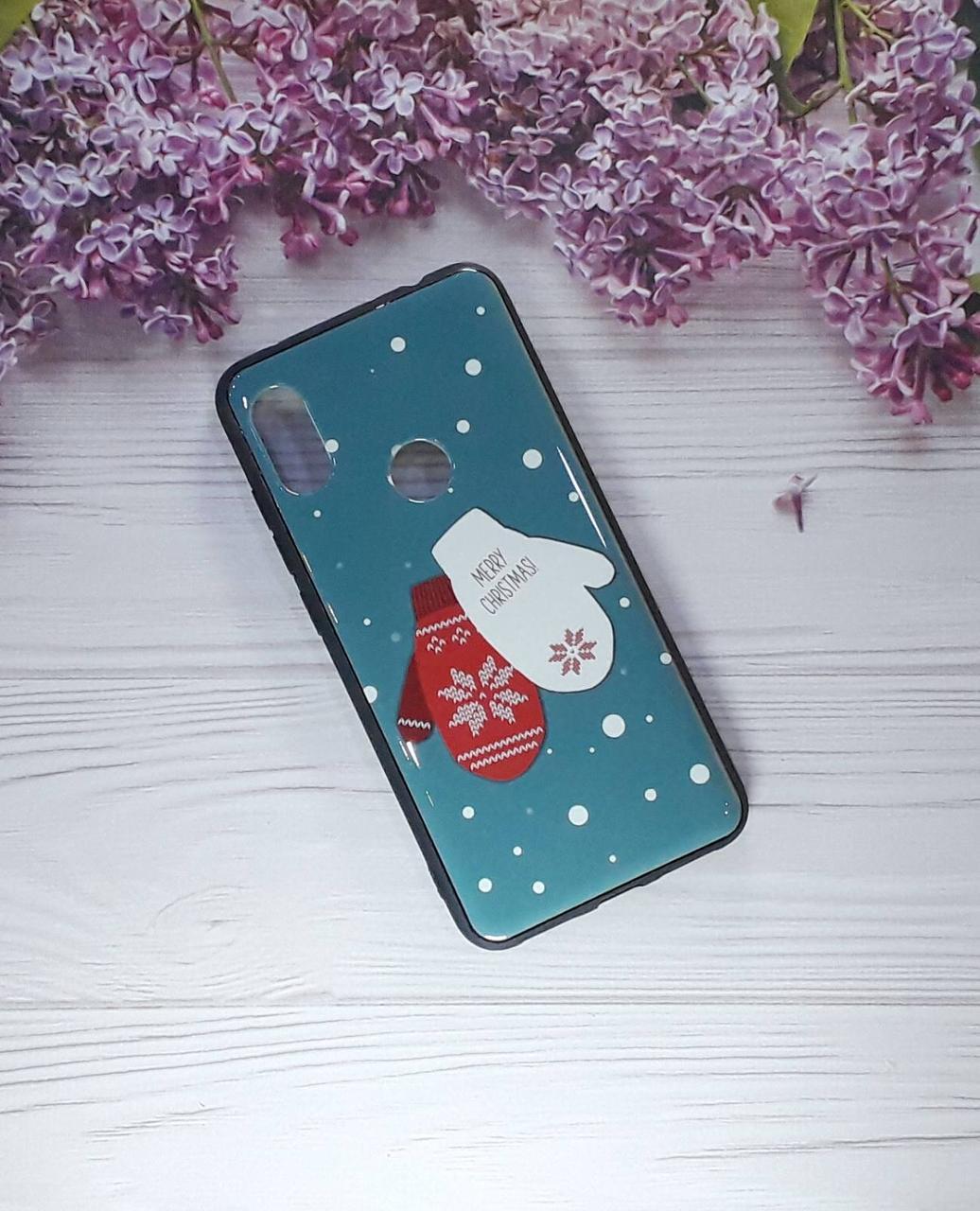 Чохол Winter на Xiaomi Note 6 Pro, Blue